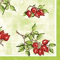Napkins HANNE 40x40cm 1/4fold Linclass green/red - 300pcs.