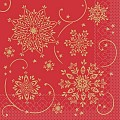 CRISTAL Napkins Christmas 40x40cm 1/4fold TISSUE red - 600pcs.