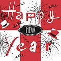 NEW YEAR Silvester Napkins 40x40cm AIRLAID red/black - 600pcs.