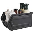 Snack Box INDUSTRIAL 23x15,5cm/Height13cm METAL black - 1pc.