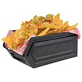 Snack Box INDUSTRIAL 16,5x10,5cm/Height7,5cm METAL black - 1pc.