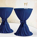 Table Cover Ø60-80cm Polyester dark blue- 1pc.