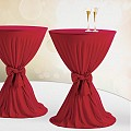 Table Cover Ø60-80cm Polyester dark burgundy - 1pc.