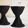 Table Cover Ø60-80cm Polyester dark black - 1pc.