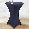 Stretch Table Cover Ø70-85cm Polyester blue - 1pc.