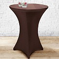 Stretch Table Cover Ø70-85cm Polyester brown - 1pc.