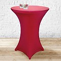 Stretch Table Cover Ø70-85cm Polyester red - 1pc.