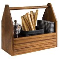 Table Caddy ACACIA 27,5x13,5cm/height24cm WOOD acacia  - 1pc.