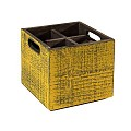 Table Caddy VINTAGE 17x17cm/height16cm Wood yellow - 1pc.