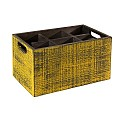 Table Caddy VINTAGE 27x17cm/H16cm Wood yellow - 1pc.
