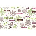 Table Runners ADAM 40cmx24lfm LINCLASS kiwi/berry - 4pcs.