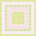 Table Cloths HERMINE 80x80cm LINCLASS-Airlaid pink/lime - 60pcs.