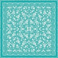Table Cloths LACE 80x80cm LINCLASS-Airlaid turquoise - 60pcs.