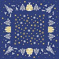 ELLA Table Cloths Christmas 80x80cm LINCLASS blue - 60pcs.