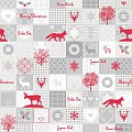 PEPE Table Cloths Christmas 80x80cm LINCLASS grey/red - 60pcs.