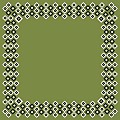 Table Cloths ART-DECO 80x80cm Linclass-Airlaid green - 50pcs.