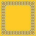 Table Cloths ART-DECO 80x80cm Linclass-Airlaid yellow - 60pcs.