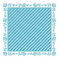 BAVARIA Table Cloths 80x80cm Paper white/blue - 100pcs.