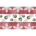 Table Runners Christmas 40cmx24lfm AIRLAID bordeaux - 4pcs.