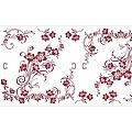 KATJA Table Runners 40cmx24lfm LINCLASS bordeaux - 4pcs.