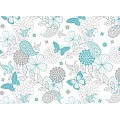 NATALIE Table Runners 40cmx24lfm LINCLASS turquoise - 4pcs.
