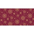 CRISTAL Table Runners Christmas 40cmx24lfm LINCLASS burgundy 4pc