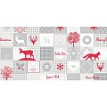 PEPE Table Runners Christmas 40cmx24lfm LINCLASS grey/red - 4pcs
