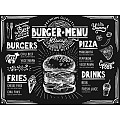 PlaceMats BURGER MENU 40x30cm Matt Carton - 500pcs.