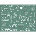Place Mats COFFEE TIME 40x30cm LINCLASS anthrazit - 600pcs.