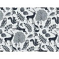 FOREST Place Mats 40x30cm LINCLASS-Airlaid grey/black - 600pcs.