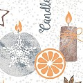 CANDLE TIME Napkins Christmas 40x40cm TISSUE grey - 1200pcs.