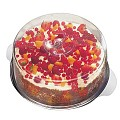 HOT! Cake Plate with Cover Ø30cm/height11cm StainlessSteel - 1pc