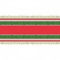 Xmas MELISSA Table runner 40cmx24lfm AIRLAID green/red - 4pcs.