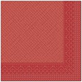 BASICS Napkins RED 40x40cm TISSUE DELUXE uni - 300pcs.