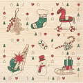 GRACE Napkins Christmas 33x33cm TISSUE red/green - 600pcs.