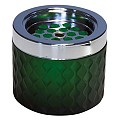 Ashtray Ø9,5cm/height8cm GLASS/METAL dark green - 1pc.