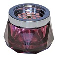 NEW! Ashtray DIAMOND Ø12cm/height8cm GLASS/METAL berry - 1pc.