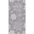 STEVEN Xmas Pocket Napkins 1/8fold AIRLAID silver grey - 600pcs.