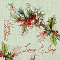 LOVE&JOY Xmas Napkins 40x40cm AIRLAID without cutlery - 600pcs.