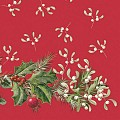 ELISE Xmas Napkins 40x40cm 1/4 fold TISSUE red/green - 600pcs.