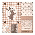 LUKE Xmas Napkins 33x33cm 1/4fold TISSUE brown - 800pcs.