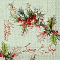 LOVE&JOY Xmas Napkins 40x40cm TISSUE without cutlery - 1200pcs.