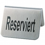 Table stand RESERVIERT 5,5x5cm STAINLESS STEEL - 2pcs.