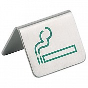 Table stand SMOKING ALLOWED 5,5x5cm Stainless Steel - 2pcs.