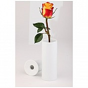 Flower Vase 2 parts Ø5cm/height13cm Porcelain white - 1pc.