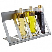 Bottle Display SMALL 38x13cm/height21cm Stainless Steel - 1pc. 1