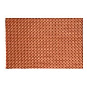 Place Mats Small Band 45x33cm PVC-Plastic candyred - 6pcs.