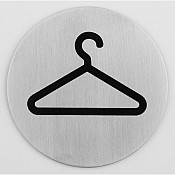 Sign plate Ø7,5cm Coats STAINLESS INOX - 1pc.