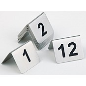 Table Numbers 1-12 Stainless Steel - 12pcs.