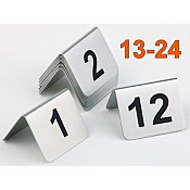 Table Numbers Nr. 13-24 STAINLESS STEEL - 12pcs.